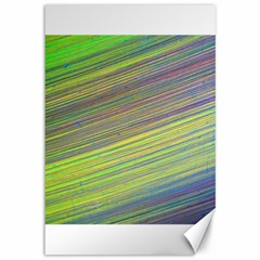 Diagonal Lines Abstract Canvas 12  X 18