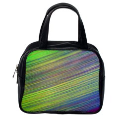 Diagonal Lines Abstract Classic Handbags (one Side)