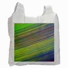Diagonal Lines Abstract Recycle Bag (one Side)