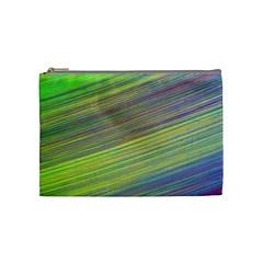Diagonal Lines Abstract Cosmetic Bag (medium)