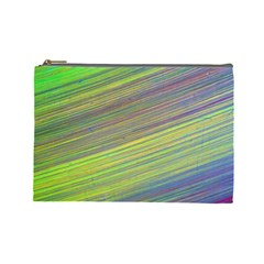 Diagonal Lines Abstract Cosmetic Bag (large)