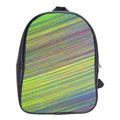 Diagonal Lines Abstract School Bags(large)