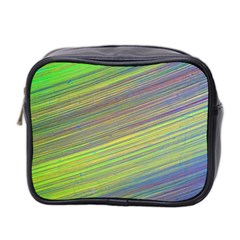 Diagonal Lines Abstract Mini Toiletries Bag 2 Side