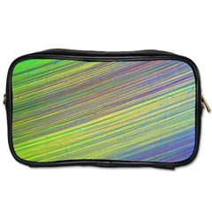 Diagonal Lines Abstract Toiletries Bags 2 Side