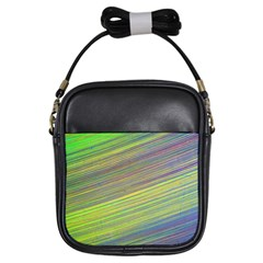 Diagonal Lines Abstract Girls Sling Bags