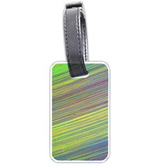 Diagonal Lines Abstract Luggage Tags (One Side)
