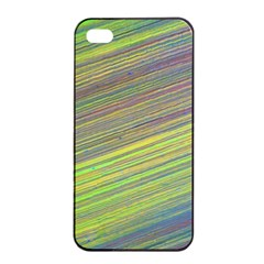 Diagonal Lines Abstract Apple Iphone 4/4s Seamless Case (black)