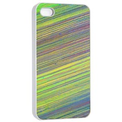 Diagonal Lines Abstract Apple Iphone 4/4s Seamless Case (white)