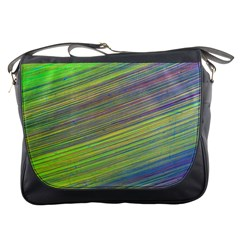 Diagonal Lines Abstract Messenger Bags