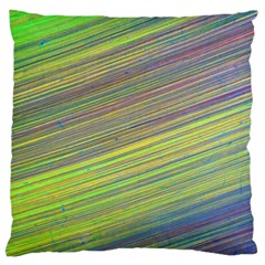 Diagonal Lines Abstract Large Cushion Case (one Side)