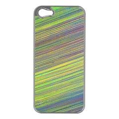 Diagonal Lines Abstract Apple Iphone 5 Case (silver)