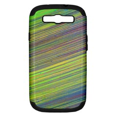 Diagonal Lines Abstract Samsung Galaxy S Iii Hardshell Case (pc+silicone)