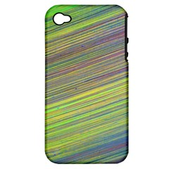 Diagonal Lines Abstract Apple Iphone 4/4s Hardshell Case (pc+silicone)