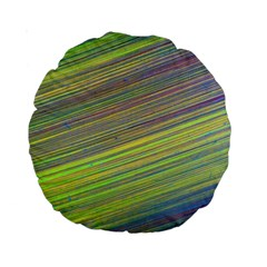 Diagonal Lines Abstract Standard 15  Premium Round Cushions