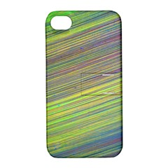 Diagonal Lines Abstract Apple Iphone 4/4s Hardshell Case With Stand