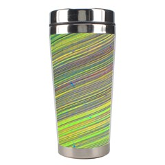 Diagonal Lines Abstract Stainless Steel Travel Tumblers