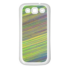 Diagonal Lines Abstract Samsung Galaxy S3 Back Case (white)
