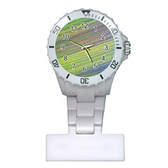 Diagonal Lines Abstract Plastic Nurses Watch