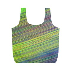 Diagonal Lines Abstract Full Print Recycle Bags (m)