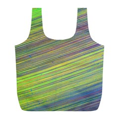 Diagonal Lines Abstract Full Print Recycle Bags (l)