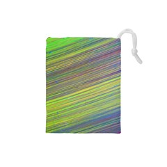 Diagonal Lines Abstract Drawstring Pouches (small)
