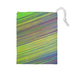 Diagonal Lines Abstract Drawstring Pouches (large)