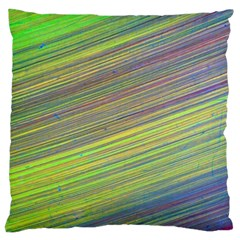 Diagonal Lines Abstract Large Flano Cushion Case (two Sides)