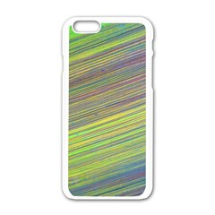Diagonal Lines Abstract Apple Iphone 6/6s White Enamel Case
