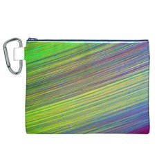 Diagonal Lines Abstract Canvas Cosmetic Bag (xl)