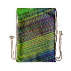 Diagonal Lines Abstract Drawstring Bag (small)