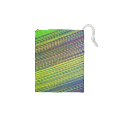 Diagonal Lines Abstract Drawstring Pouches (xs)
