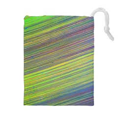 Diagonal Lines Abstract Drawstring Pouches (extra Large)