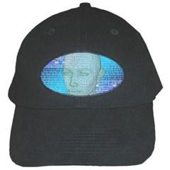 Digital Pattern Black Cap