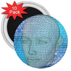 Digital Pattern 3  Magnets (10 Pack)