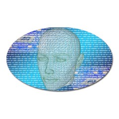 Digital Pattern Oval Magnet