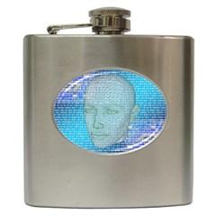 Digital Pattern Hip Flask (6 oz)