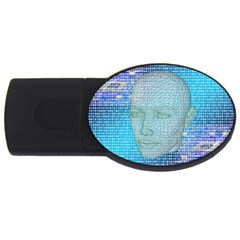 Digital Pattern Usb Flash Drive Oval (2 Gb)