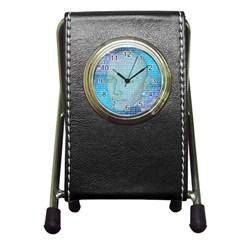 Digital Pattern Pen Holder Desk Clocks