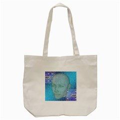 Digital Pattern Tote Bag (Cream)
