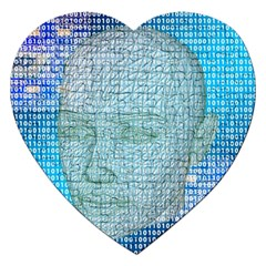 Digital Pattern Jigsaw Puzzle (heart)