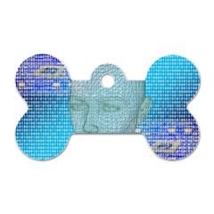 Digital Pattern Dog Tag Bone (One Side)