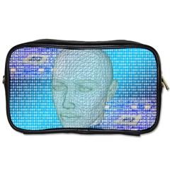 Digital Pattern Toiletries Bags