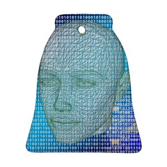 Digital Pattern Bell Ornament (two Sides)