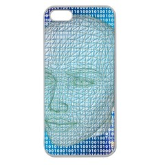 Digital Pattern Apple Seamless Iphone 5 Case (clear)