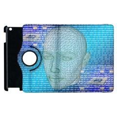 Digital Pattern Apple Ipad 2 Flip 360 Case