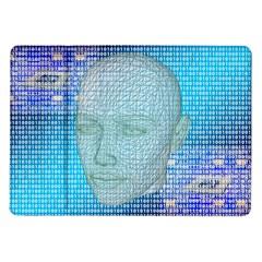 Digital Pattern Samsung Galaxy Tab 10 1  P7500 Flip Case