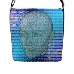 Digital Pattern Flap Messenger Bag (l)