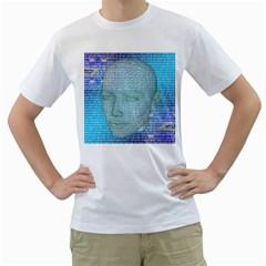 Digital Pattern Men s T Shirt (white)