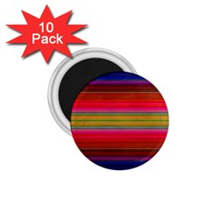 Fiesta Stripe Colorful Neon Background 1 75  Magnets (10 Pack)