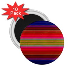 Fiesta Stripe Colorful Neon Background 2 25  Magnets (10 Pack)